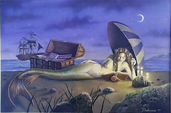 Reading Mermaid -- David Delamare