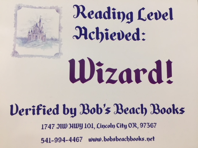 Our Reading Level: Wizard Postcard
